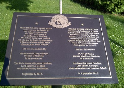 Lord Selkirk Sugar Maple Plaque